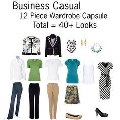 business casual capsules   Business Casual Wardrobe Capsule by Deanna Ronson on Polyvore