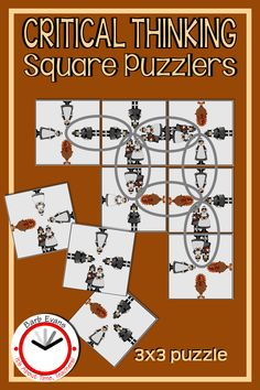PILGRIM SQUARE PUZZLERS are fun, yet challenging brain teasers. They exercise critical thinking & problem solving, build perseverance & stamina, and stimulate the brain while disguising it all as fun. Similar to Scrambled Squares, these differentiated, logic puzzles must be reconstructed so that the images match on every interior side. Use them for centers, stations, rotations, fast finishers, enrichment, GATE (gifted & talented education), and/or a class reward. Loved by all ages. Brainstorming Activities, Teaching Activities, Classroom Activities, Teaching Resources, Teaching Ideas, Thanksgiving Activities, Holiday Activities, Survival Kit For Teachers, Fast Finishers