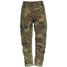 Women's Re/done Camo Cargo Pants ($250) ❤ liked on Polyvore featuring pants, camo pants, camoflauge pants, camouflage trousers, camoflage pants and brown twill pants