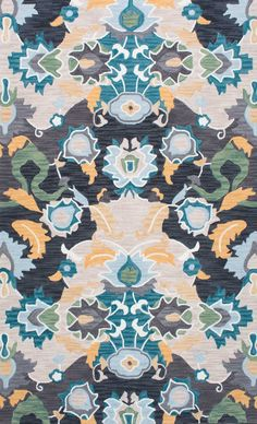 Both contemporary and organic, this area rug is brimming with a burst of blossom and enchantment. The hand-hooked rug is made out of 100% polyester and adds a bohemian charm to your décor.