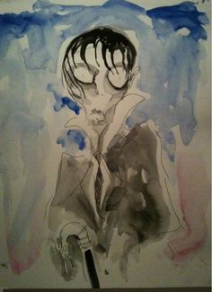 Tim Burton x Johnny Depp, Barnabas-watercolor