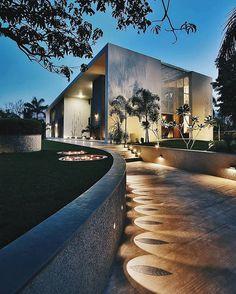 Via @ommstudio #allofarchitecture #allnetwork Lambhvella Home By Dipen Gada & Associates  India