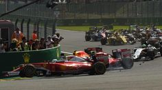 17 Minuten Rennpause! | So irre war der Chaos-Start in Spa - Formel 1 - Bild.de
