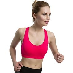 23799eefdf565 Women s Sports Bras Wire Free High Impact Support Seamles... https