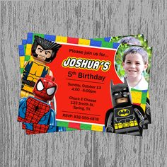 Avengers Birthday Invitations And Super Hero Jpg 236x236 Lego Marvel Superhero Party
