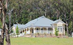 Fair Dinkum Federation, Mt Evelyn Vic Harkaway Homes Dream House Plans, My Dream Home, Dream Homes, House Front, My House, Farm House, Future House, Weatherboard House, Australian Homes