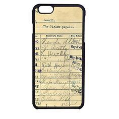 FR23-Vintage Library Card Fit For iPhone 6 Case Hardplastic Back Protector Framed Black FR23 http://www.amazon.com/dp/B018RVY8A6/ref=cm_sw_r_pi_dp_1RNxwb1XGRB7J