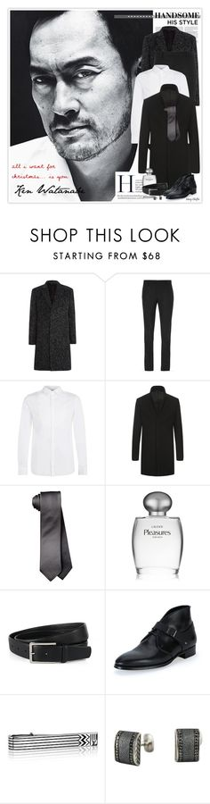 """""""All I Want For Christmas Is You - #1"""" by mcheffer ❤ liked on Polyvore featuring Our Legacy, Yves Saint Laurent, SELECTED, Estée Lauder, Alexander McQueen, David Yurman, Christmas, formal, menswear and CelebrityStyle"""