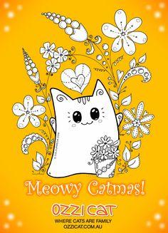 Meowy Christmas to all  cats !! Natalie Ozzi  Cat  Magazine