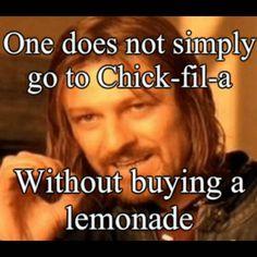chick fil a lemonade meme