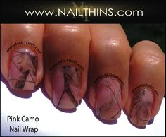 Pink Camo Nail Decal Real Trees and Leaves Full Nail by NAILTHINS, $5.00