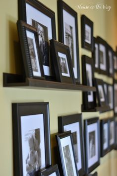 Using picture ledges to display your photos on a gallery wall is a great way to create a fun, layered look. I used all black and white photos in black frames to…