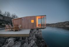 Manshausen Island resort is a Product Launch Venue in Nordland, Norway. See photos and contact Manshausen Island resort for a tour. Design Hotel, House Design, Architecture Design, Pavilion Architecture, Organic Architecture, Building Architecture, Residential Architecture, Timber Cabin, Casas Containers