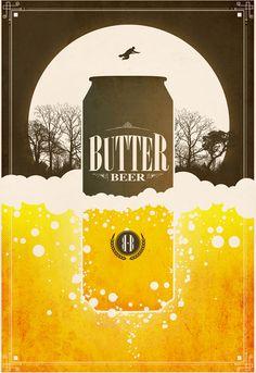 Harry Potter Beverage Butterbeer Poster Illustration By Justin Van Genderen On Design You Trust Harrypotter