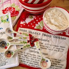 You could turn this into a Mother's Day present for a young Mom - take one of her favorite childhood recipes and put it on a potholder! LOVE