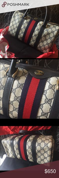 88d630c5a 🤩AUTHENTIC🤩Gucci Boston Bag Excellent vintage condition. Exterior and  interior are very clean