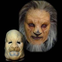 lion halloween mask prosthetic makeup