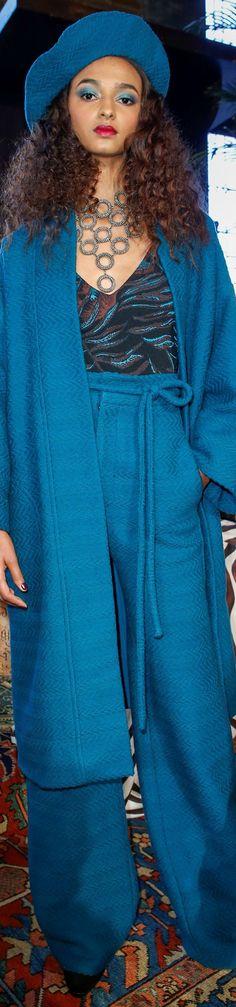 Mara Hoffman - Fall Winter 2016/2017 Blue Fashion, Fashion 2020, High Fashion, Blue Crush, Mara Hoffman, Blues, Fall Winter, My Style, Silhouettes