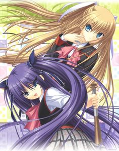 little busters saya and sasami