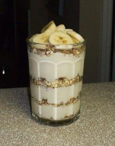 Yogurt protein parfait P90x