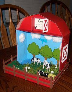 3rd Grade Diorama: Cow, Farm