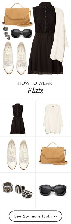 """""""#Untitled224"""" by sphinx-moth on Polyvore featuring Yumi, H&M, MANGO and Poverty Flats"""