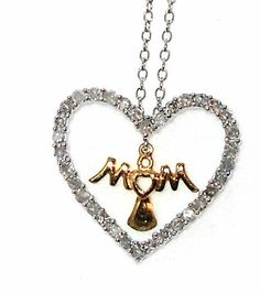 MOTHER'S DAY Mom Diamond Pendant .50ctw MOTHERS DAY http://stores.ebay.com/JEWELRY-AND-GIFTS-BY-ALICE-AND-ANN