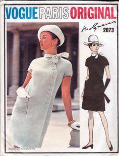 60s MOLYNEAUX Coatdress modello Vogue Paris originale 2073 lato Buttoned  invernale cappotto abito Vintage modello taglia 9ac4ac44b38