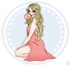 Bubblegum by Madison Welch (sirensong07) CANVAS FOR SALE