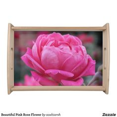 #Beautiful Pink #Rose #Flower #Serving #Tray