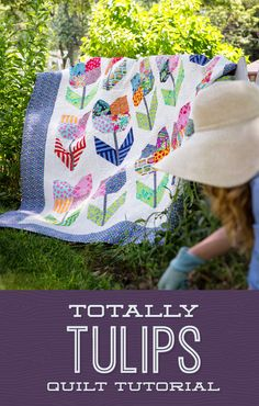 Learn to make this totally cute, Totally Tulip quilt!