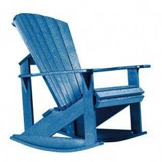 This Generations outdoor Adirondack rocking chair is made from recycled plastic that reduces tree harvesting and impact on landfill sites, plus offers a beautiful and highly durable design.