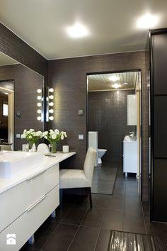 Ciemna strona łazienki - wersja tylko dla odważnych? - Łazienka, styl glamour - zdjęcie od MartaWieclawDesign