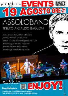 Al Pikkio coffee & ice breaker notte di note... Martedì 19 Agosto Assolo Band. Tributo a Claudio Baglioni. Dalle 21. ENJOY!