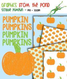 FREE Scribble Pumpkin Set - Clipart for Teachers