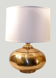 Nori Brass Hammered Table Lamp Bases #potterybarn   this would ...