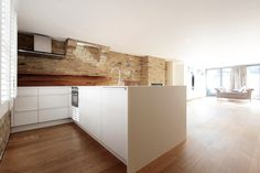 kitchen in London, painted white, solid surface, modern design