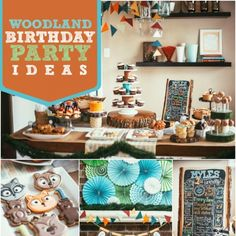 Want to step into a rustic forest? Here: a woodland themed boy's first birthday party, complete with earthy, forest inspired décor and desserts.