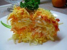 Салат Французский.Очень-очень вкусный и простой, instead mayo use Mediterranean kefir cheese Labne/saveway/.