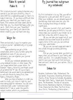 Scripture Journal Ideas