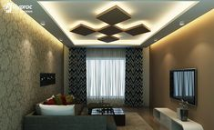 Cheap And Easy Cool Tips: False Ceiling Bedroom Wallpapers false ceiling design entrance.False Ceiling Home Decorating Ideas. House Ceiling Design, Modern Ceiling, Living Design, Bedroom Design, Cove Lighting Design, Home Ceiling, Ceiling Design Living Room, Ceiling Design Bedroom