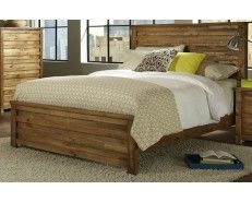 Rustic King Bed in Driftwood Finish - Sam Levitz Furniture