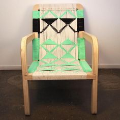 Currently coveting: plywood lounge chairs with macramé rope seating, from Pacific Wonder Land, a husband/wife design team in Los Angeles. Steve Nask