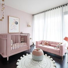 Pretty in pink! Isn't this the most gorgeous nursery for a little girl?!? The @duluxaus nursery is live now on #rebeccajuddloves. Head to the blog to see the full image gallery, video and shop the look to get these pieces for your own nursery. Tap for suppliers. Styling @aimeestylist 📷 @jamesgeer