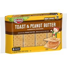 Keebler Sandwich Crackers Toast and Peanut Butter oz) - Instacart Peanut Butter Toast, Peanut Butter Sandwich, Tea For Digestion, Party Spread, Milk Ingredients, Toast Sandwich, School Treats, B 13, Morning Sickness