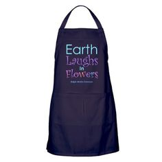 "Usher in Spring and a new gardening season with Ralph Waldo Emerson's quote, ""Earth laughs in flowers"".   Visit SplashingHoney.com for more."