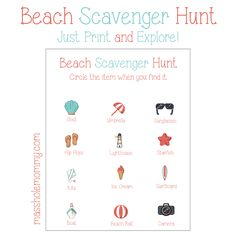 If you're looking for something fun to do the next time you head to the beach, this beach scavenger hunt is it. This free printable is a ton of fun and the kids will love it.