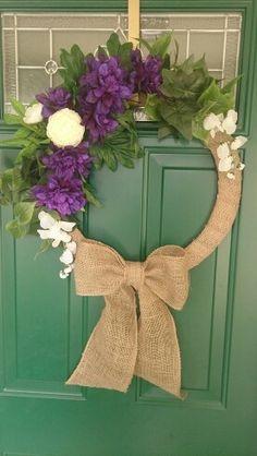 Purple wreath creation