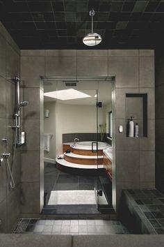 luxus badgestaltung marmor fliesen creme badewanne | bad ... - Luxus Badezimmer Grau