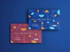 Credit Card Designs by Olly R on Dribbble Debit Card Design, Member Card, Atm Card, Card Tags, Cards, Stationary Design, Visa Card, Show And Tell, Cool Things To Buy